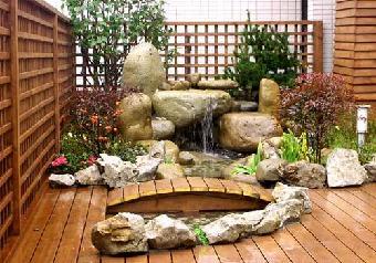 东莞别墅绿化:庭院鱼池假山的风水位及祝各位元旦